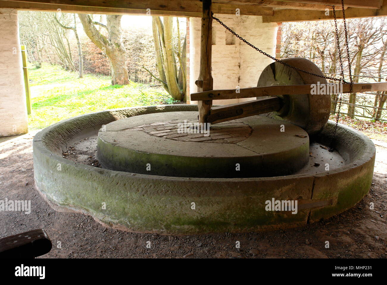 Cider Press at the Avoncroft Museum of Buildings, near Bromsgrove, Worcestershire.     Date: 2010s - Stock Image
