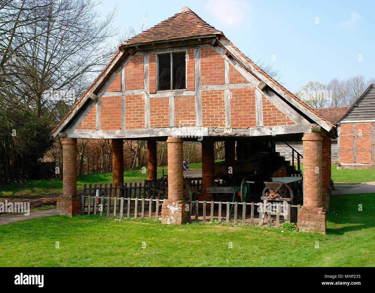 Old farm buildings at the Avoncroft Museum of Buildings, near Bromsgrove, Worcestershire.       Date: 2010s - Stock Image