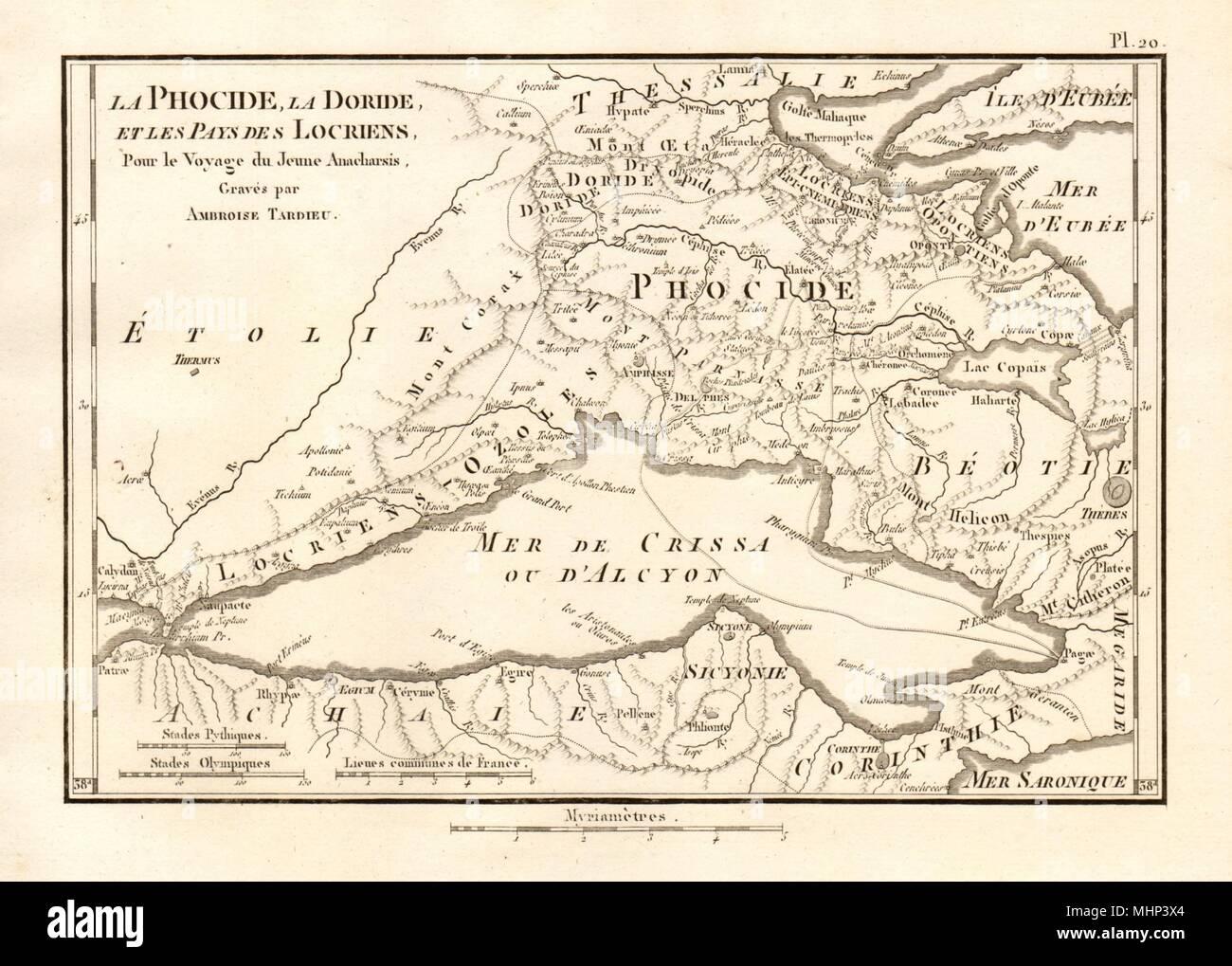Gulf Of Corinth Ancient Greece Phocide Phocis Doride Doris