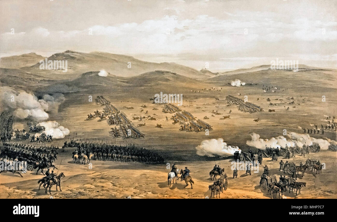 Simpson William - Charge of the Light Cavalry Brigade 25th Oct. 1854 Under Major General the Earl of Cardigan - Stock Image