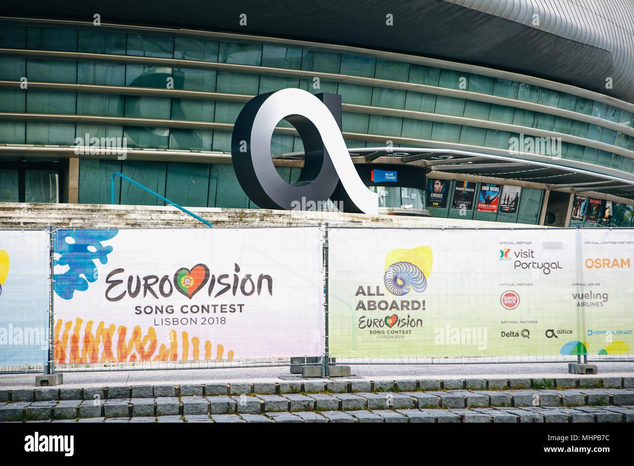 Portugal Lisbon 29 April 2018 Stadium Altice Arena Stock Photo