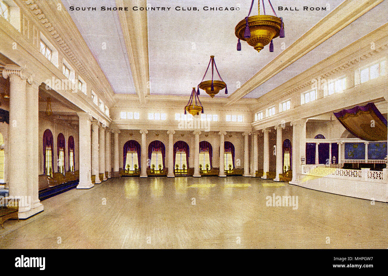South Shore Country Club, Chicago, Illinois, USA -- the Ballroom.      Date: circa 1910 - Stock Image