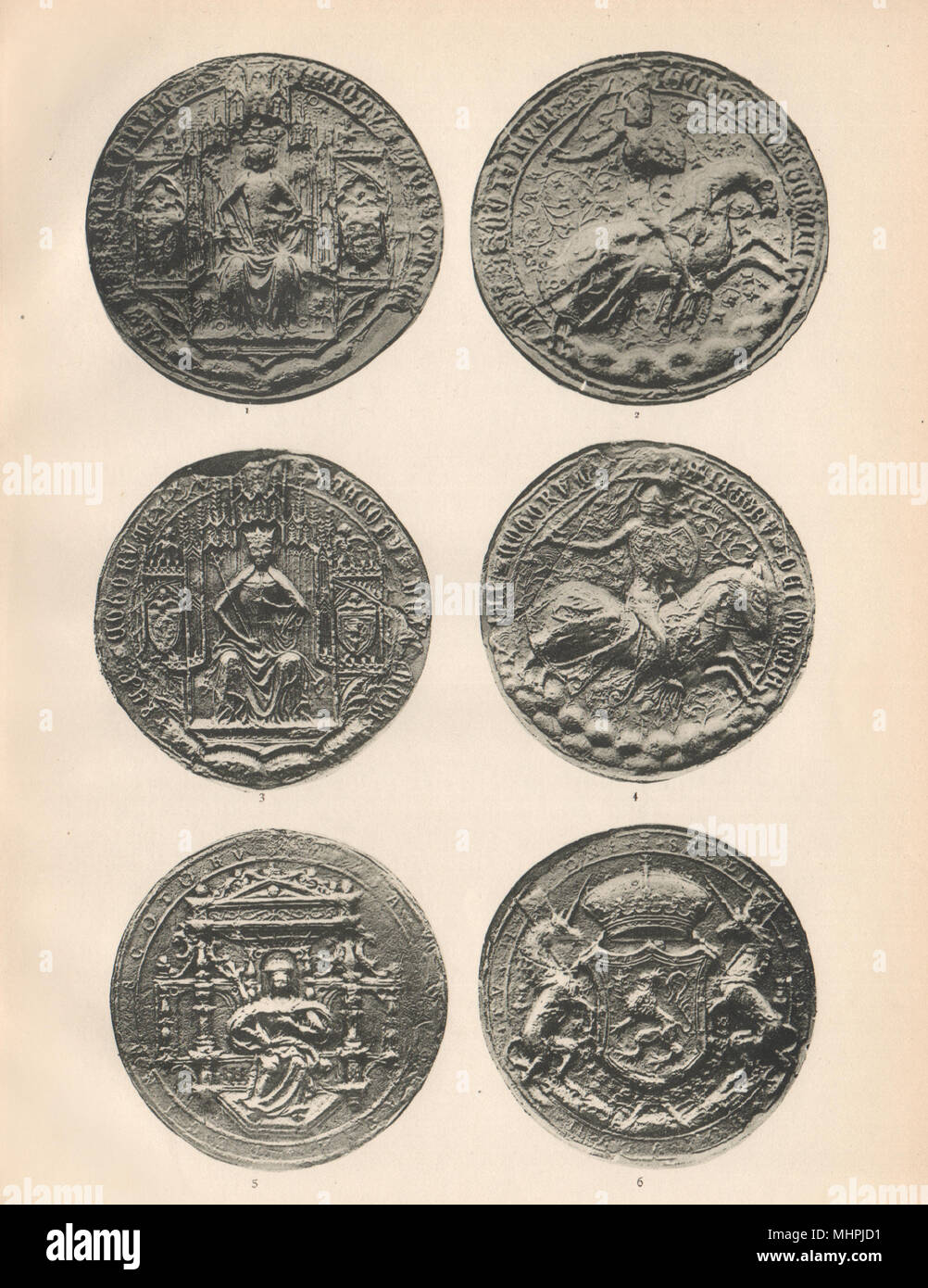 ROYAL SCOTTISH SEALS 1488-1567. James IV. James V. Mary, Queen of Scots 1907 - Stock Image