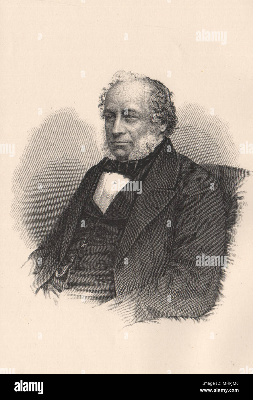 Sir Charles Barry c1880 old antique vintage print picture - Stock Image