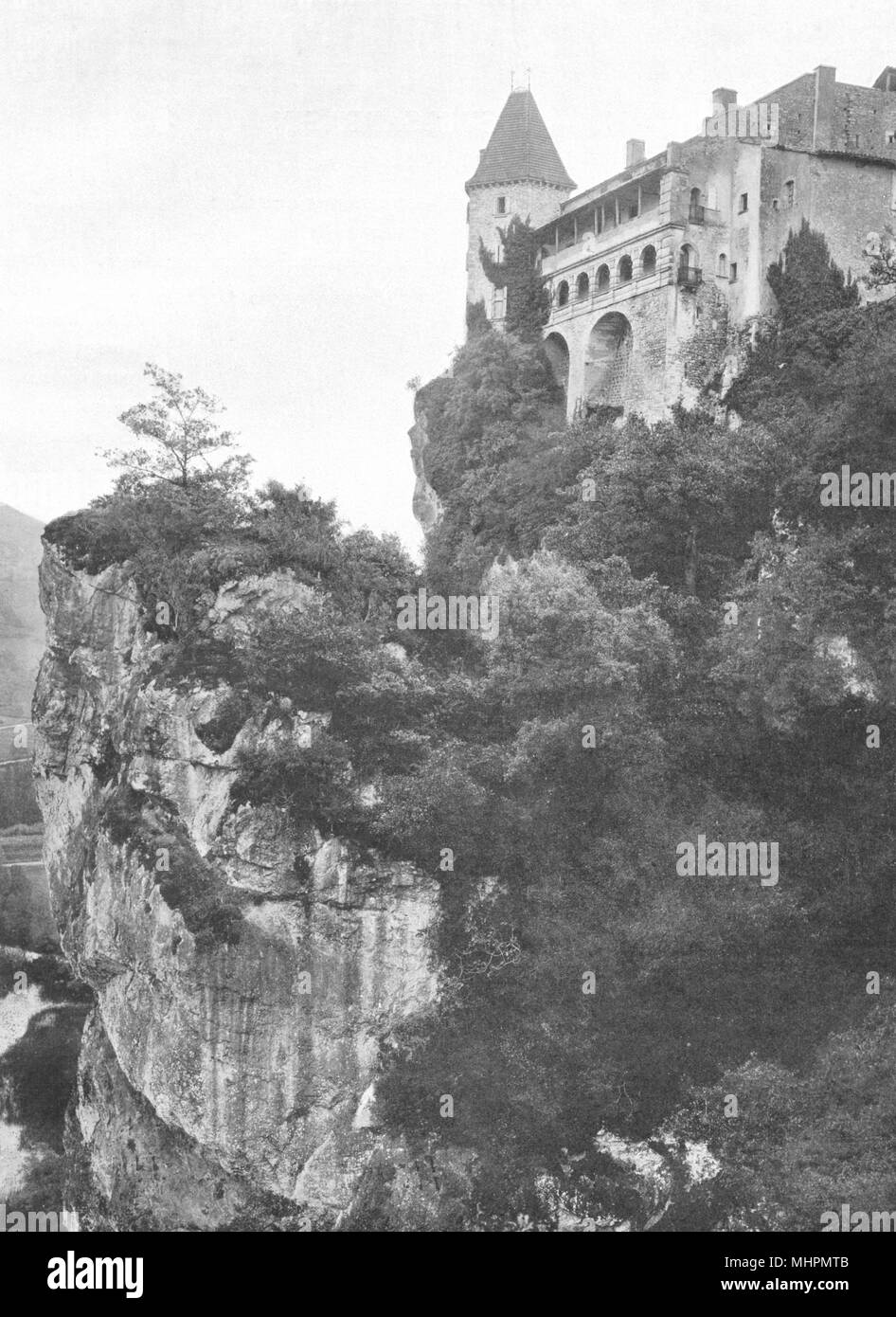 TARN ET GARONNE. Bruniquel  Château 1903 Old Antique Vintage Print Picture