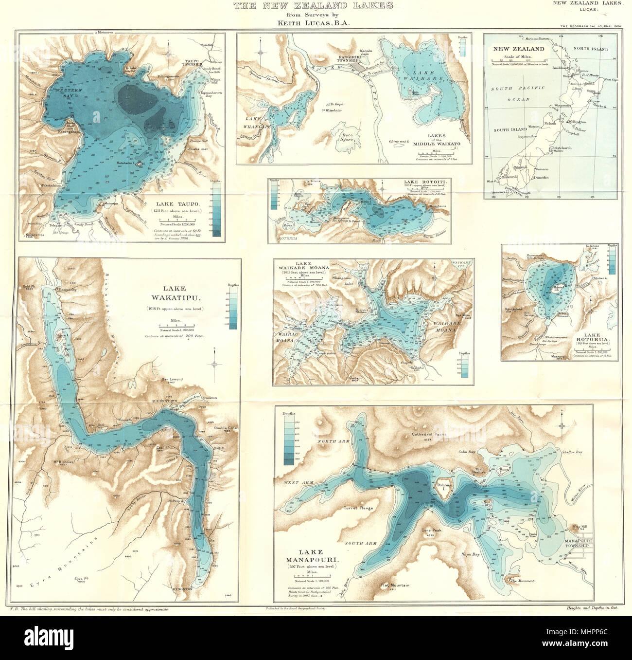 Map Of Rotorua New Zealand.New Zealand Lakes Taupo Waikato Rotoiti Wakatipu Waikare Moana