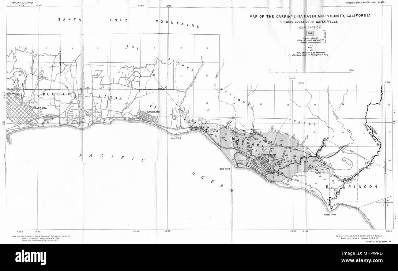 CALIFORNIA. Santa Barbara county. Map of the Carpinteria ... on casmalia california map, carlotta california map, new cuyama california map, diamond springs california map, garey california map, channel islands national park california map, los padres national forest california map, alpaugh california map, figueroa mountain california map, san luis obispo county california map, california california map, capitola california map, carmel by the sea california map, cima california map, carlsbad village california map, cuyama valley california map, olympia california map, ventura california map, state of california beaches map, bodfish california map,