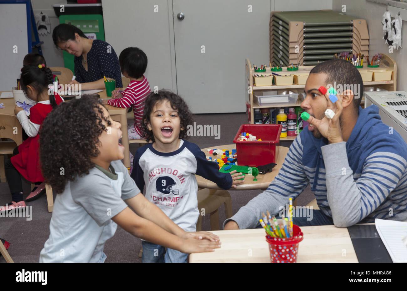 Preschool on the Lower East Side, Manhattan, New York City. - Stock Image
