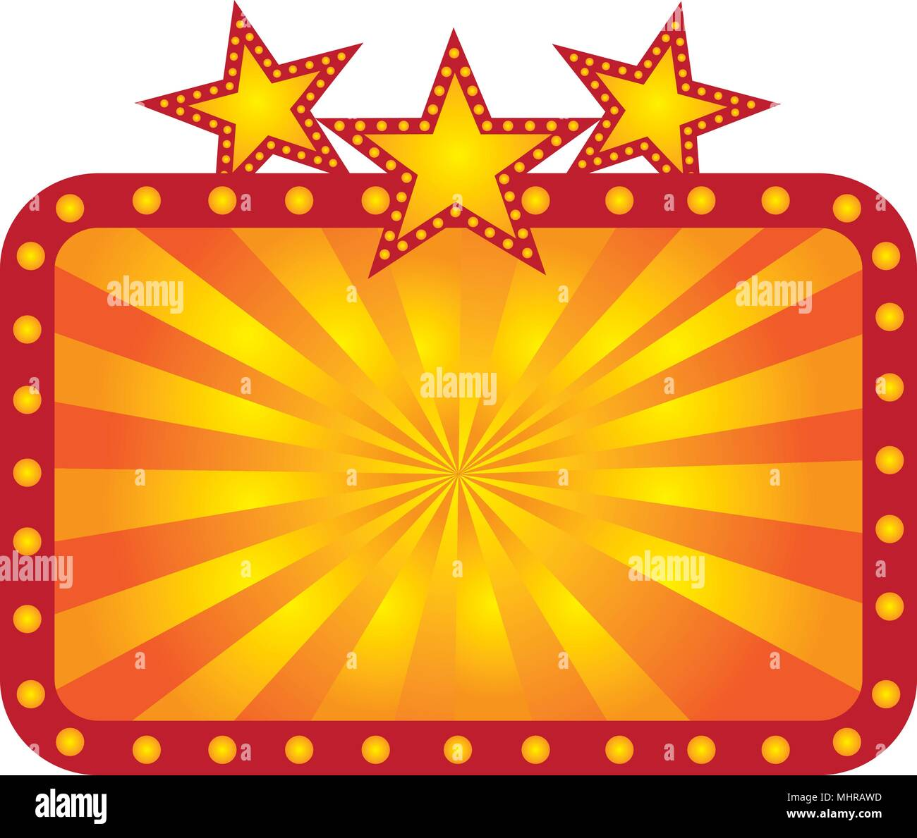 Light Up Theater: Musical Movie Theater Poster Stock Photos & Musical Movie