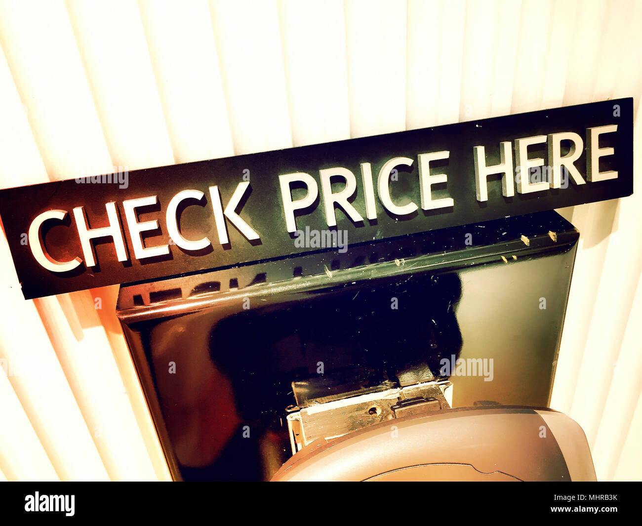Price Check Machine in a Department Store, USA - Stock Image
