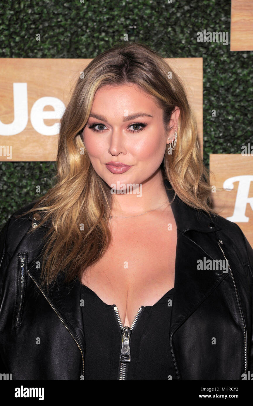 NEW YORK, NY - APRIL 25: Hunter McGrady attends the Rolling Stone celebrate 'The New Classics' – presented by the all new Jeep Wrangler at Highline St - Stock Image