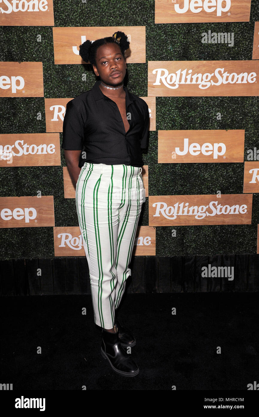NEW YORK, NY - APRIL 25: Shamir attends the Rolling Stone celebrate 'The New Classics' – presented by the all new Jeep Wrangler at Highline Stages on  - Stock Image