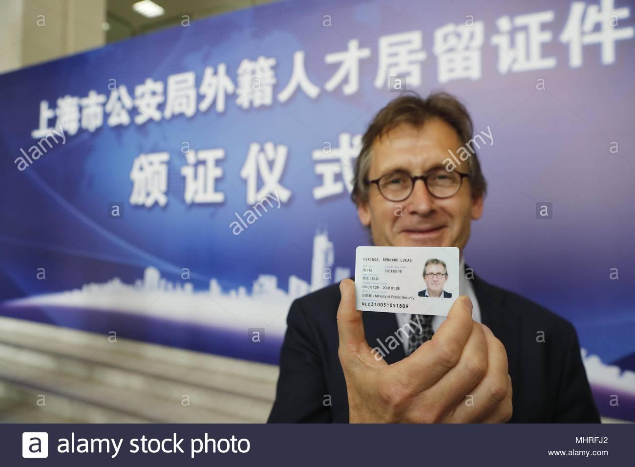 Carte Resident Chine.Shanghai China 02nd May 2018 Nobel Laureate Bernard L
