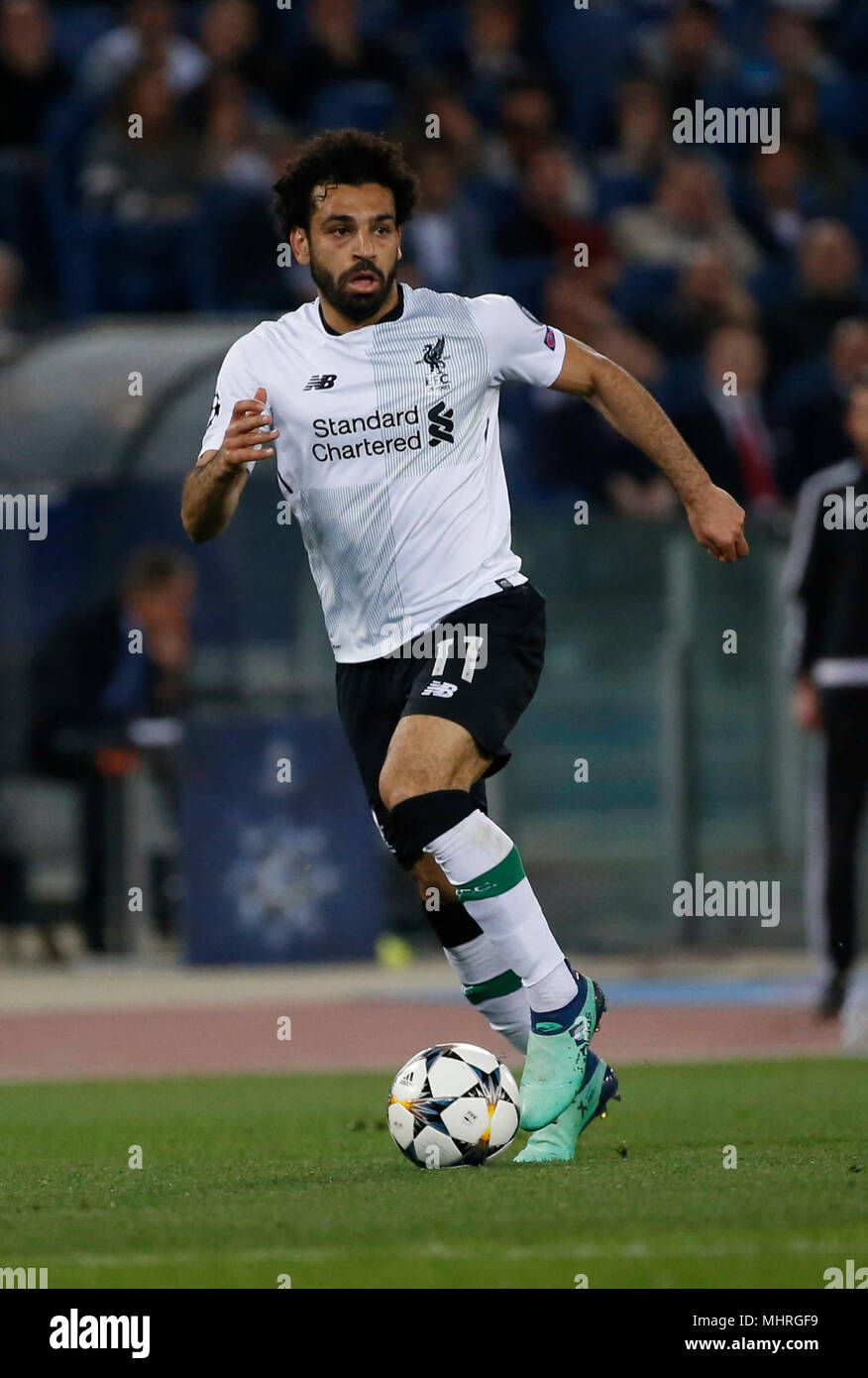 Rome Italy 2nd May 2018 Mohamed Salah Of Liverpool During The