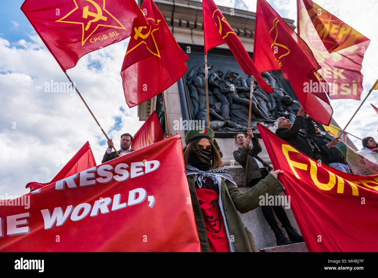 May 1, 2018 - London, UK. 1st May 2018. CPGB-ML, (Communist Party GB ...