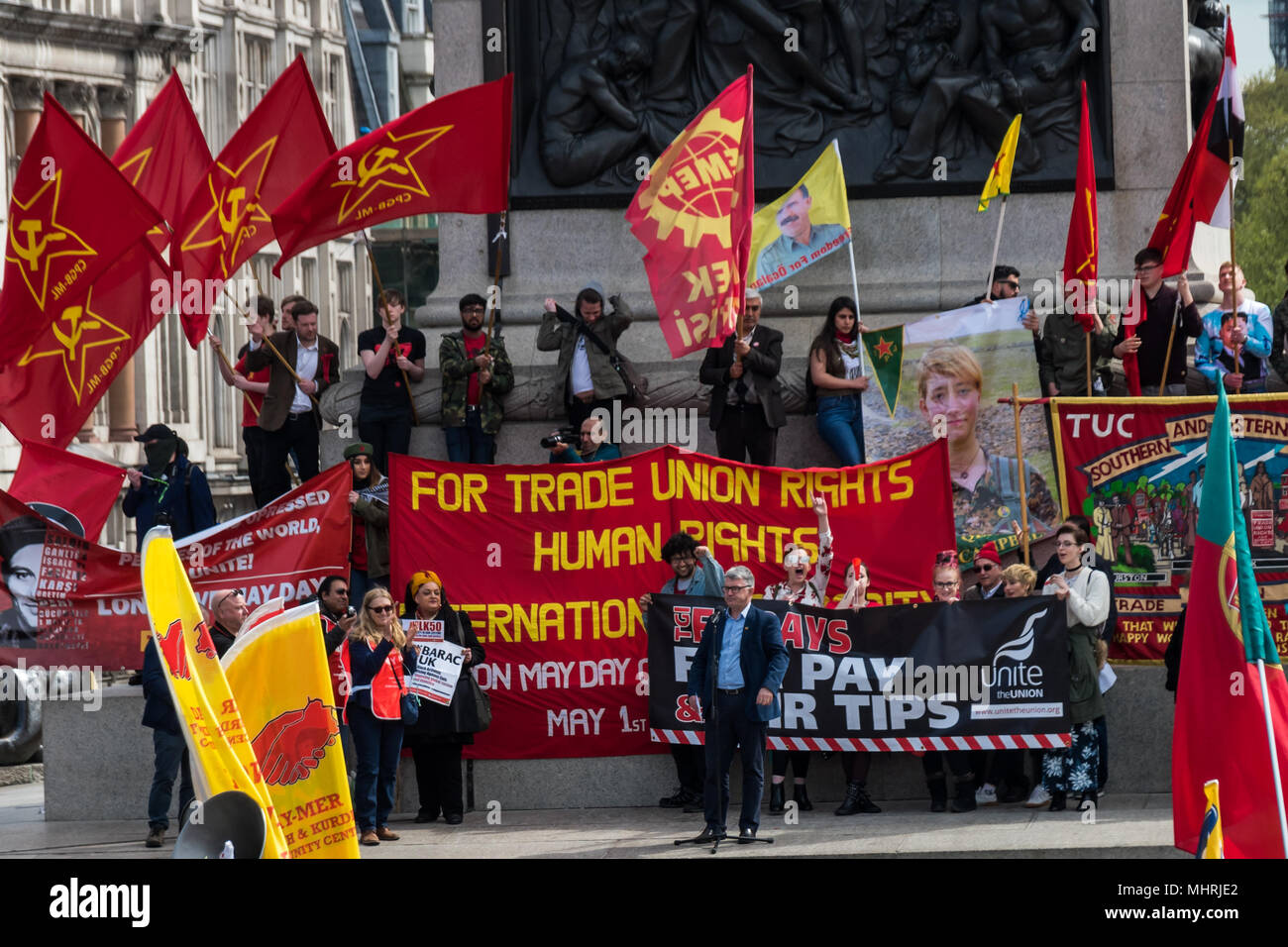 May 1, 2018 - London, UK. 1st May 2018. Mick Cash RMT General ...