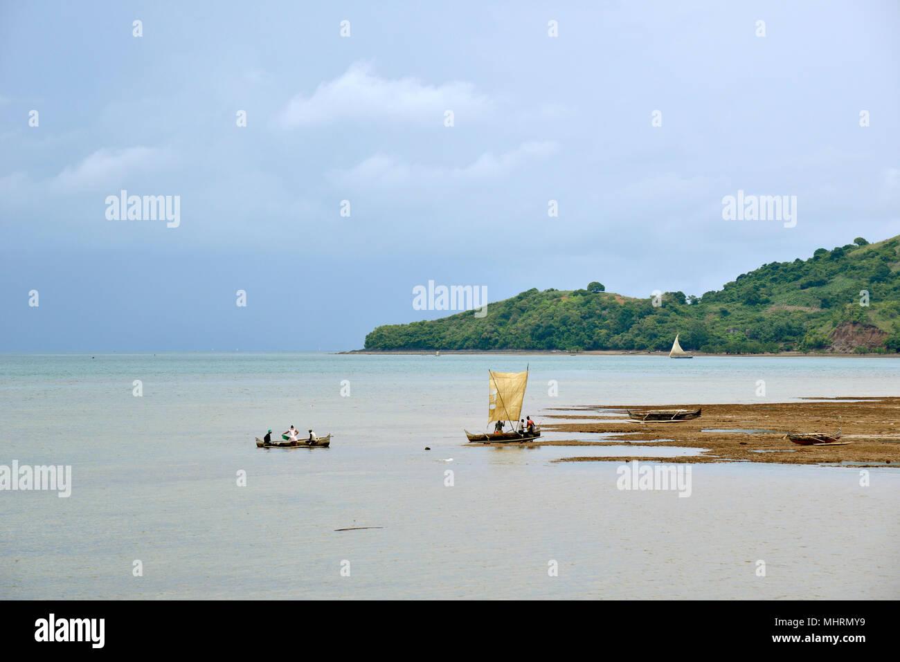 18 January 2018, Madagascar, Andoany : Coastal landscape near Andoany, capital of the island of Nosy Be off the north-west coast of Madagascar.   usage worldwide - Stock Image