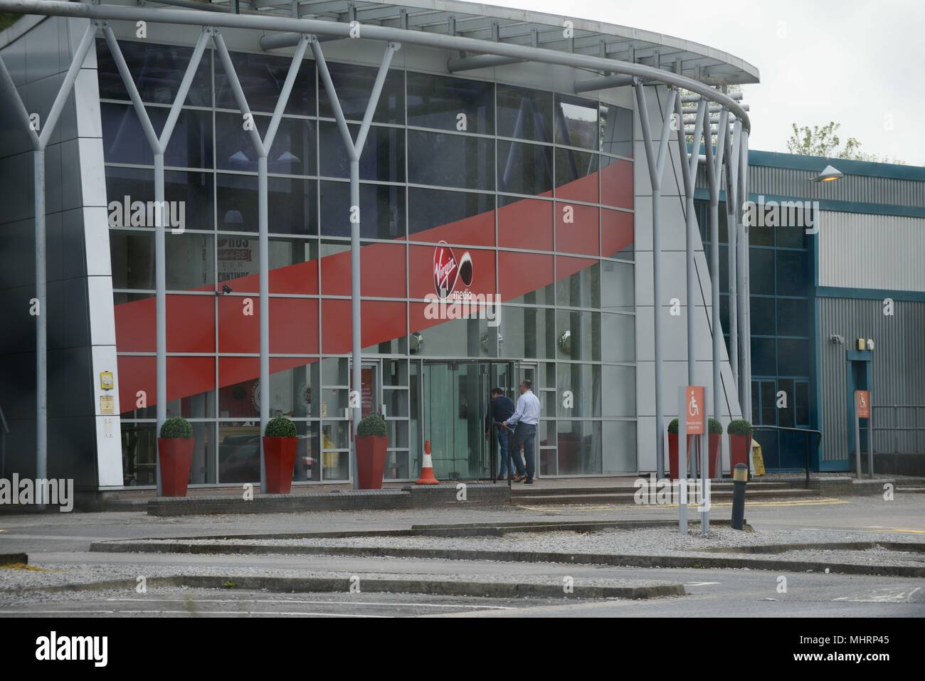 Swansea, South Wales, UK. May 3rd 2018 The Virgin Media call centre in Swansea, South Wales, where news broke today that almost 800 jobs are to go as the company plans to call the Swansea base. Credit: Robert Melen/Alamy Live News. Stock Photo