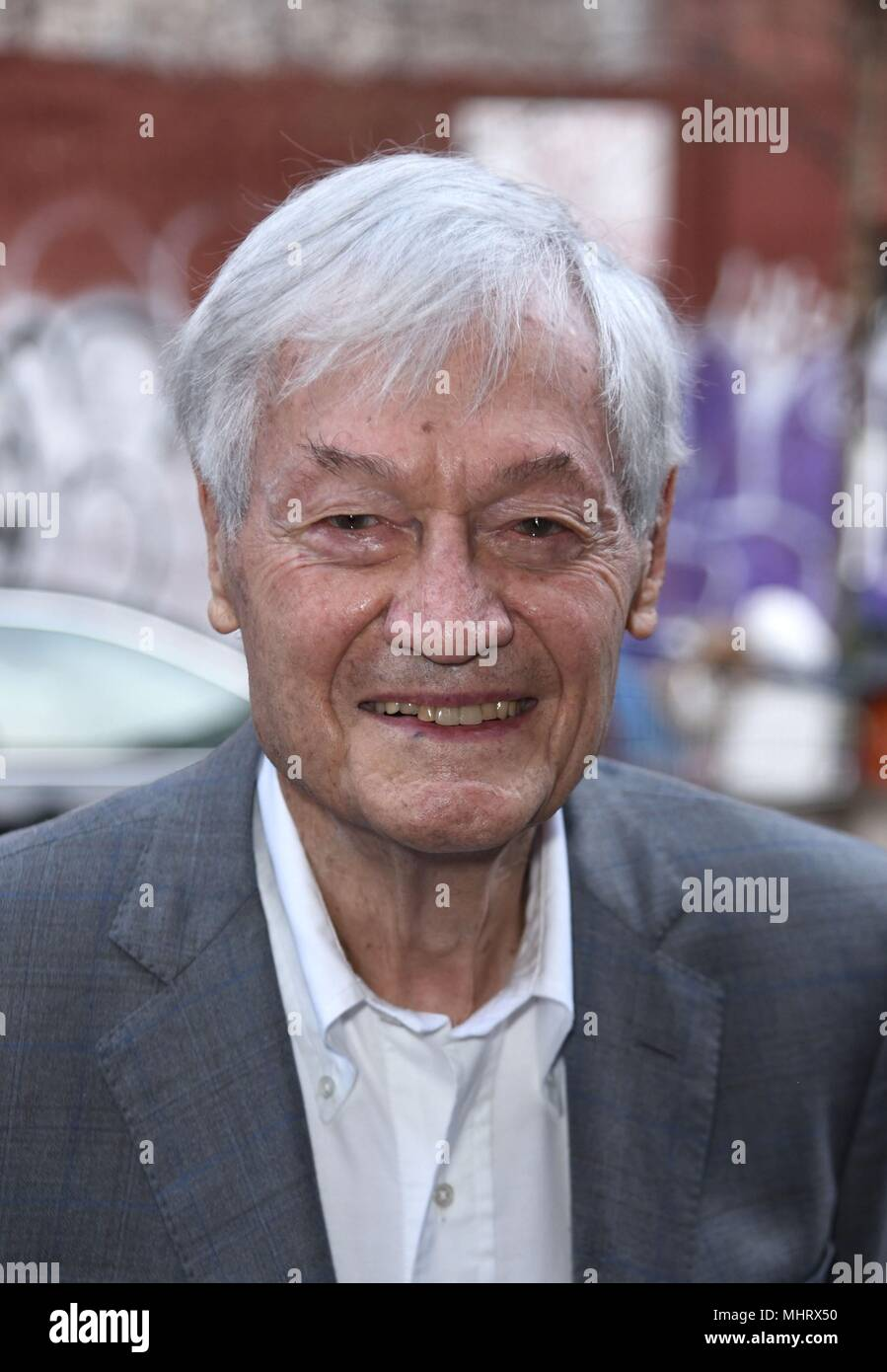 New York, NY, USA. 3rd May, 2018. Roger Corman, appears at the Metrograph to introduce his film THE INTRUDER followed by an audience Q&A out and about for Celebrity Candids - THU, New York, NY May 3, 2018. Credit: Derek Storm/Everett Collection/Alamy Live News - Stock Image