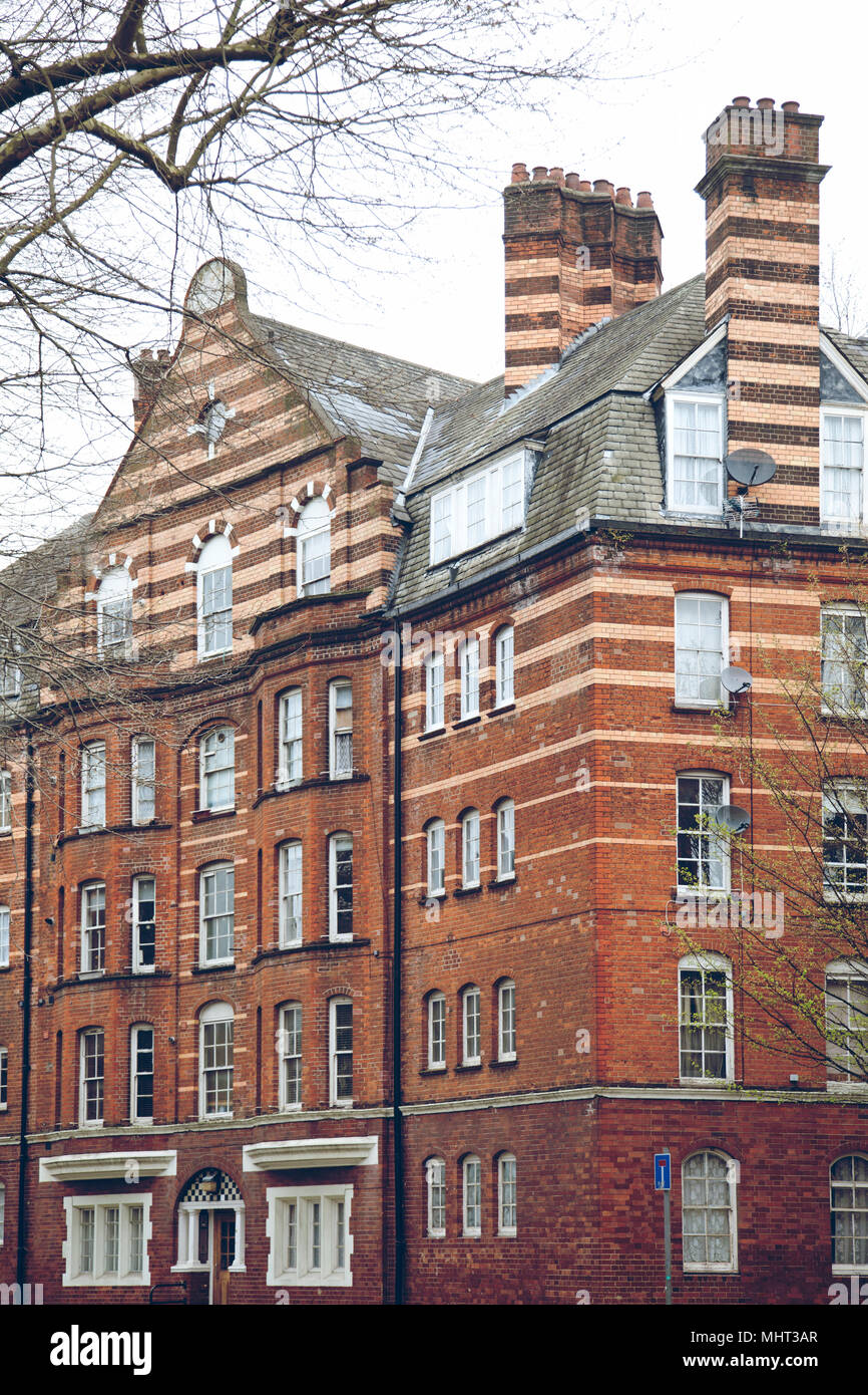 Red Brick Apartments - London - England Stock Photo ...