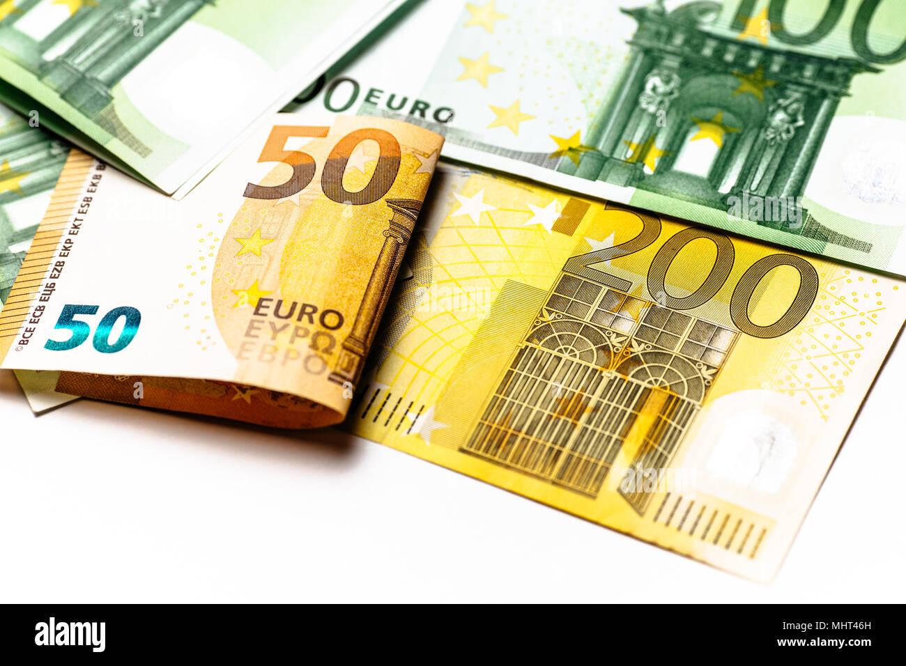 uro Money. euro cash background. Euro Money Banknotes - Stock Image