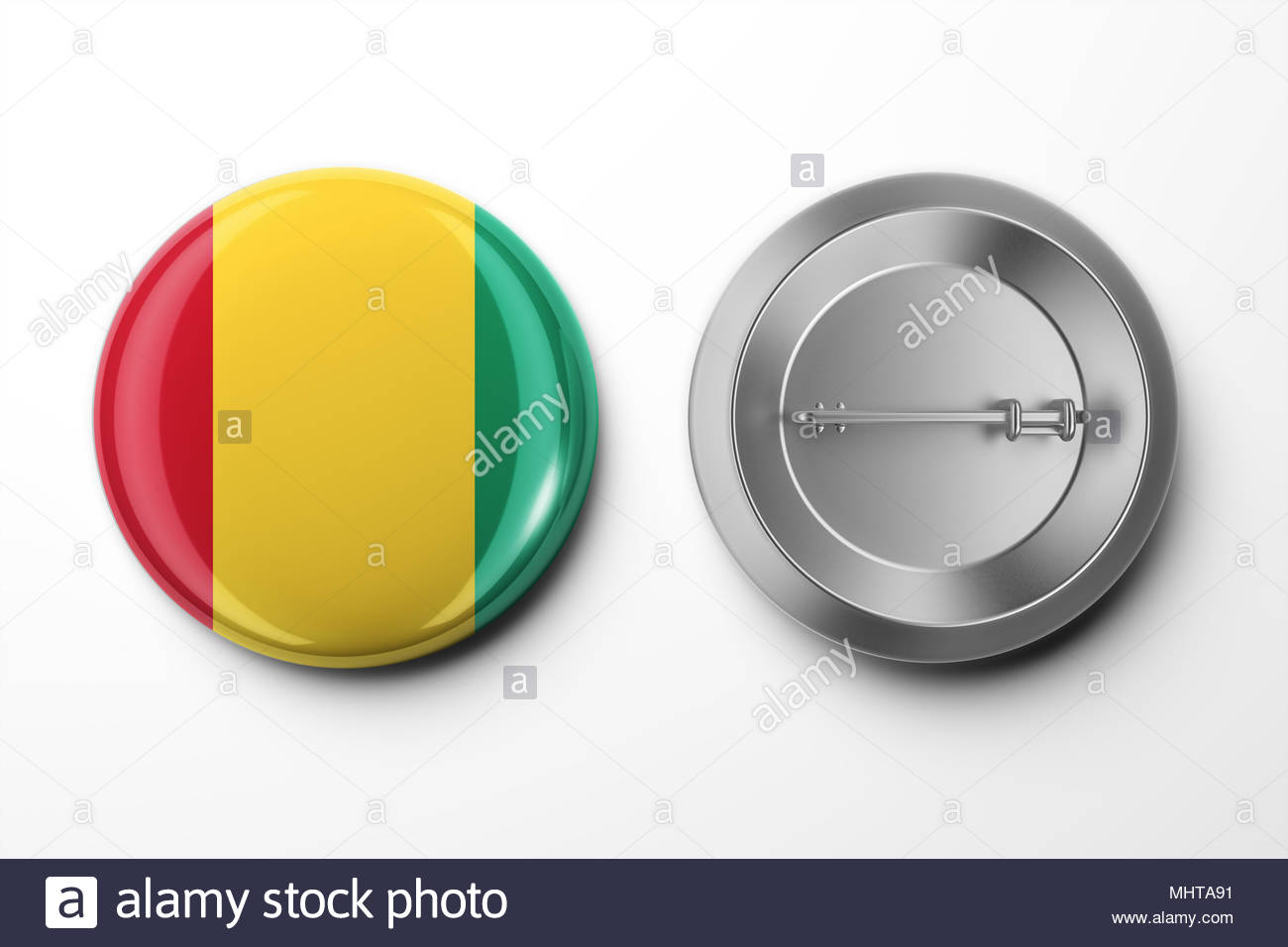 Vote Badge On White With Clipping Path Stock Photo