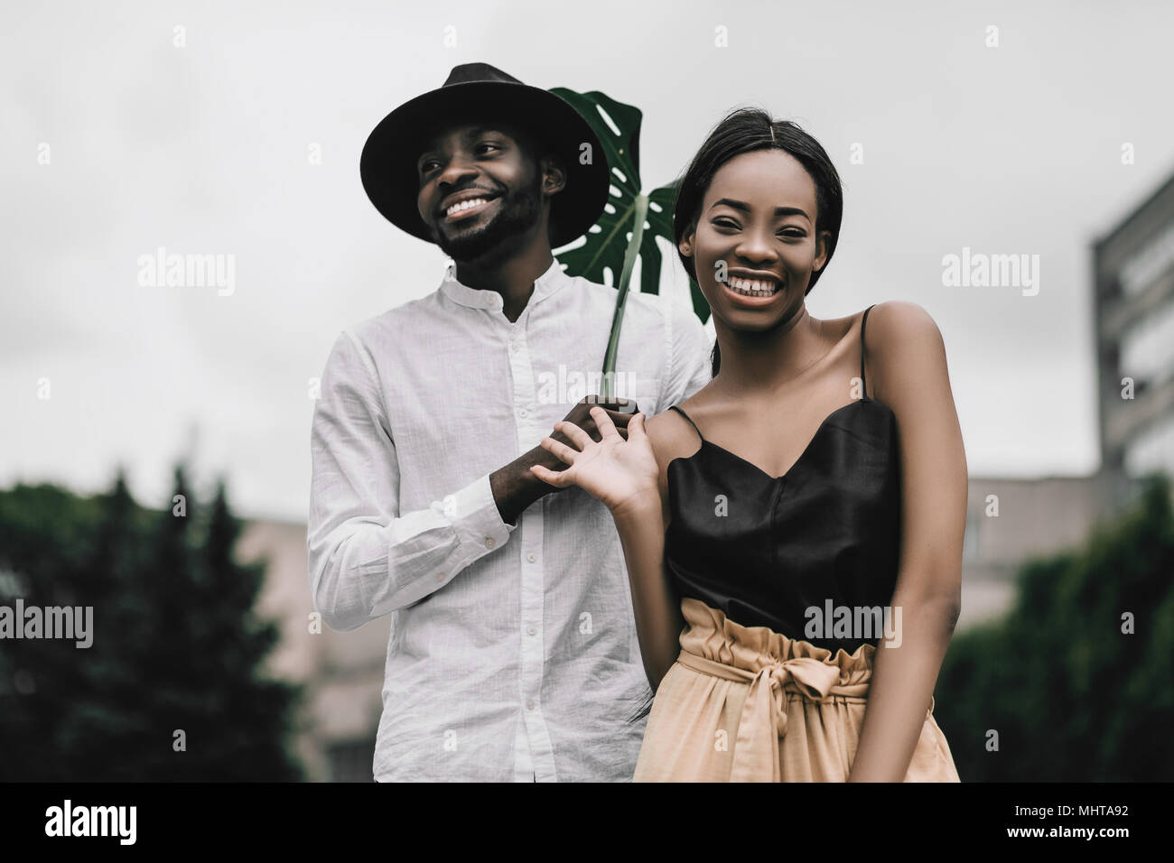 African American Love Couple Happy Relationship Smiling Black People Stock Photo Alamy