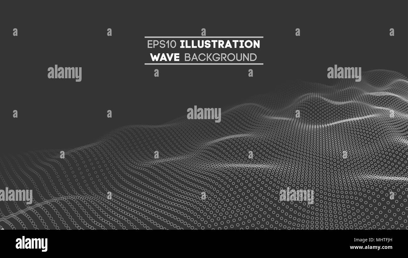 Data technology abstract futuristic illustration . Low poly shape with connecting dots and lines on dark background. 3D rendering . Big data visualization . - Stock Image