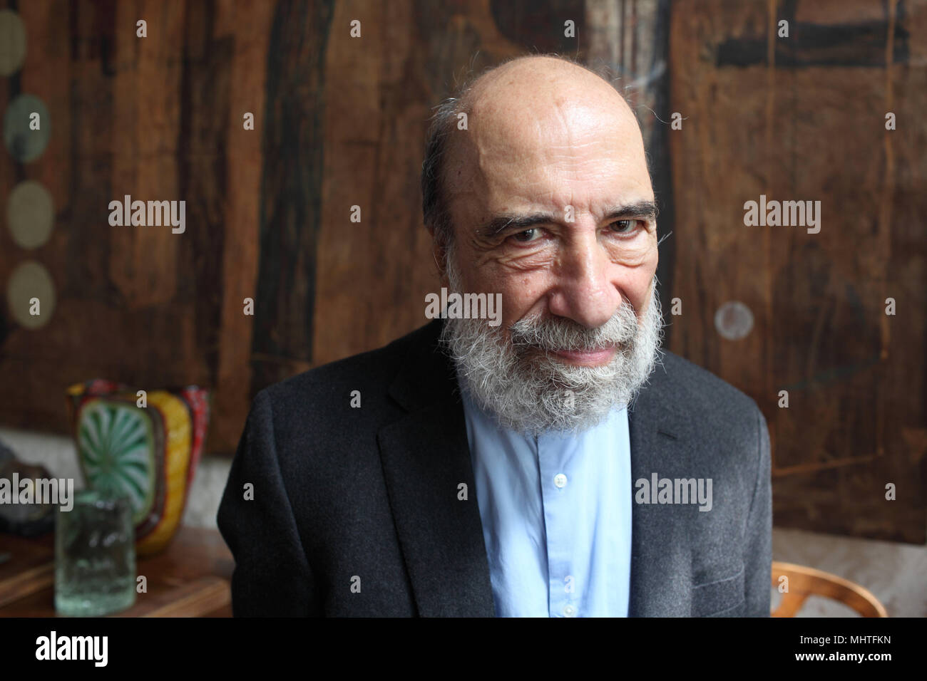 Portrait of Raul Zurita 06/04/2018 ©Basso CANNARSA/Opale - Stock Image