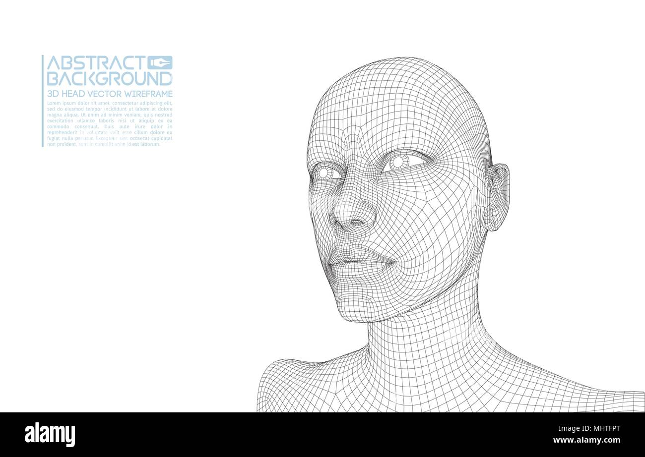 Wireframe Face Stock Photos & Wireframe Face Stock Images - Alamy