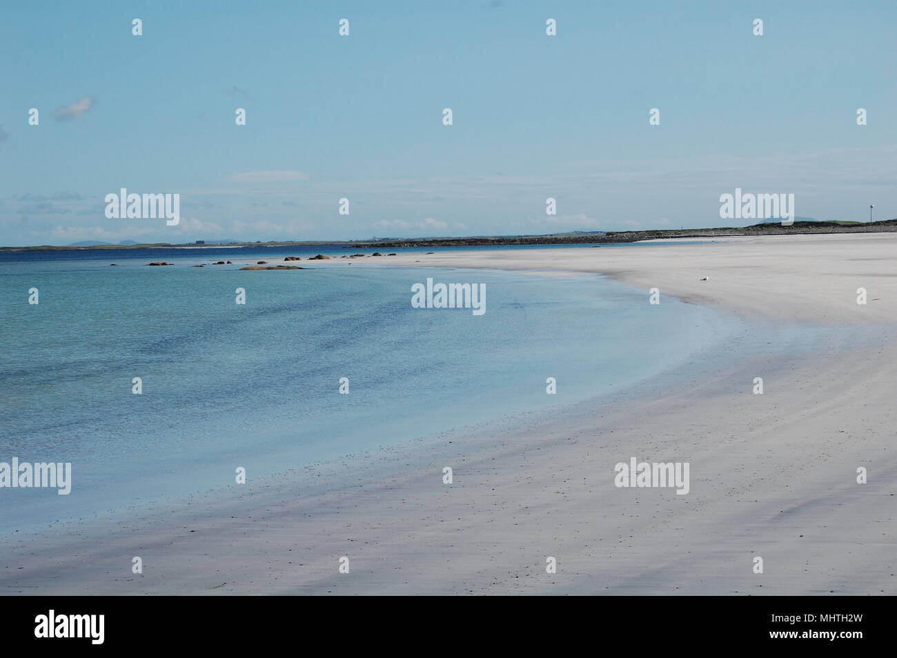 Beach North Uist, Outer Hebrides, Scotland - Stock Image
