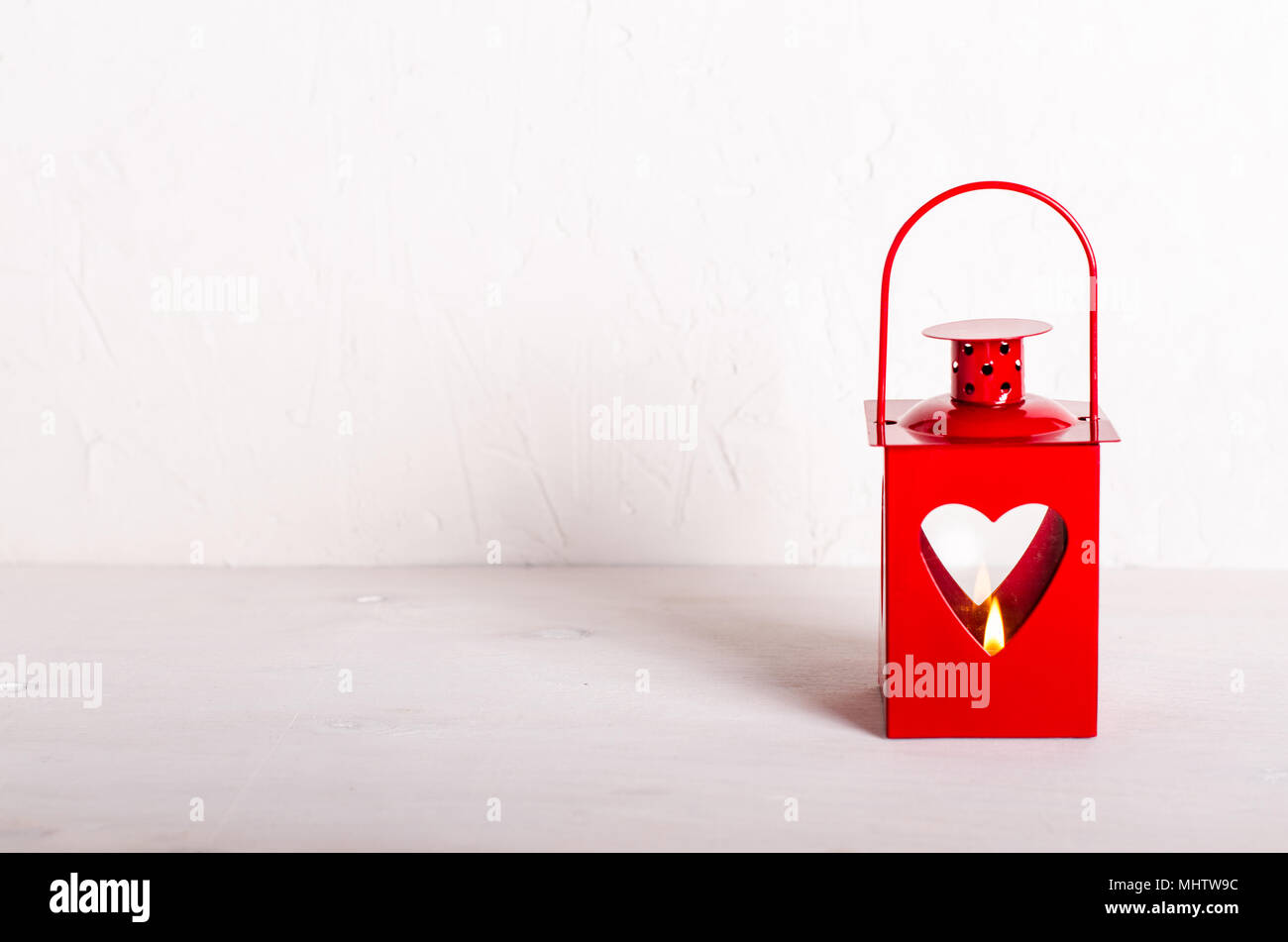 Decorative Red Holder For Candle Valentine S Day Christmas