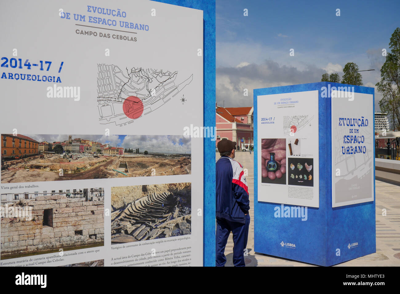 Town planning project for Lisbon Tourism harbor, Lisbon, Portugal - Stock Image