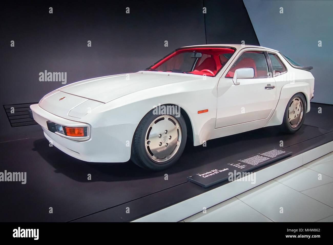 STUTTGART, GERMANY-APRIL 7, 2017: 1979 Porsche 924  Carera GT Studie in the Porsche Museum Stock Photo