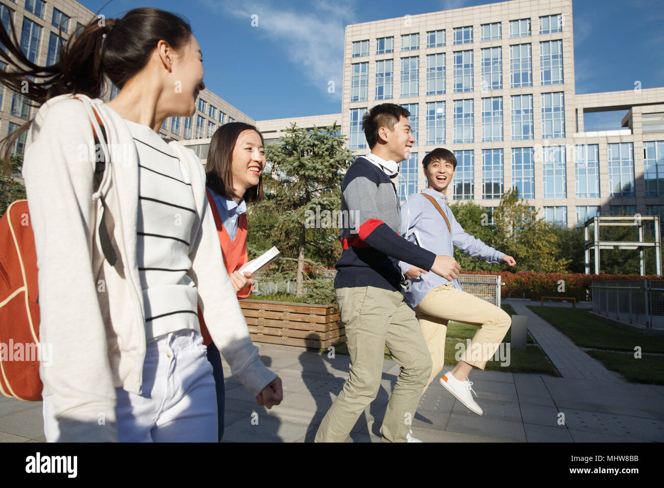 College students on campus - Stock Image