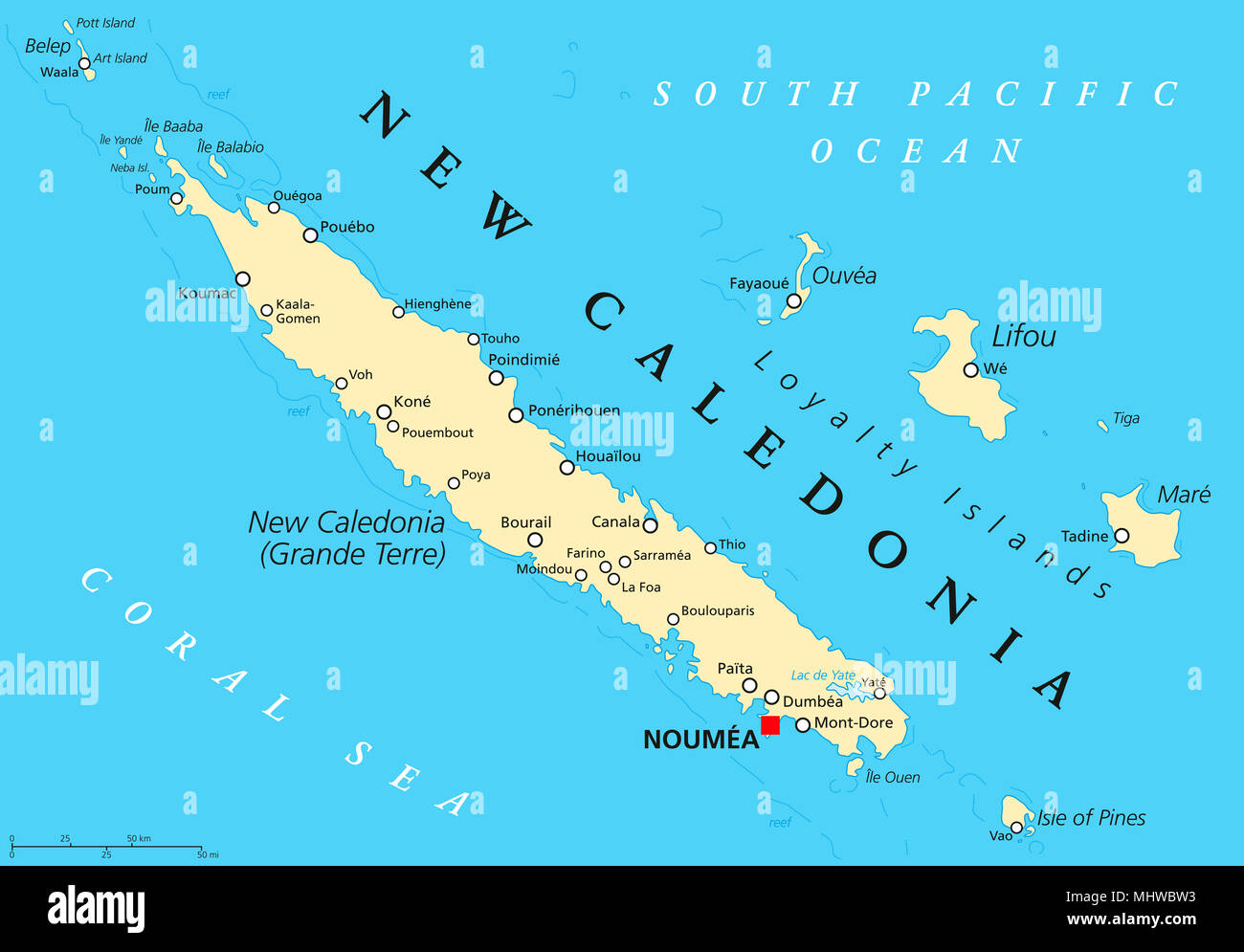 New Caledonia Main Islands