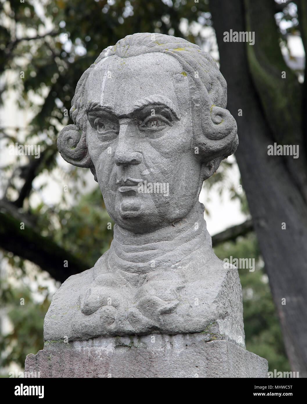 Antonio de Ulloa in Parque Alameda Quito Ecuador - Stock Image