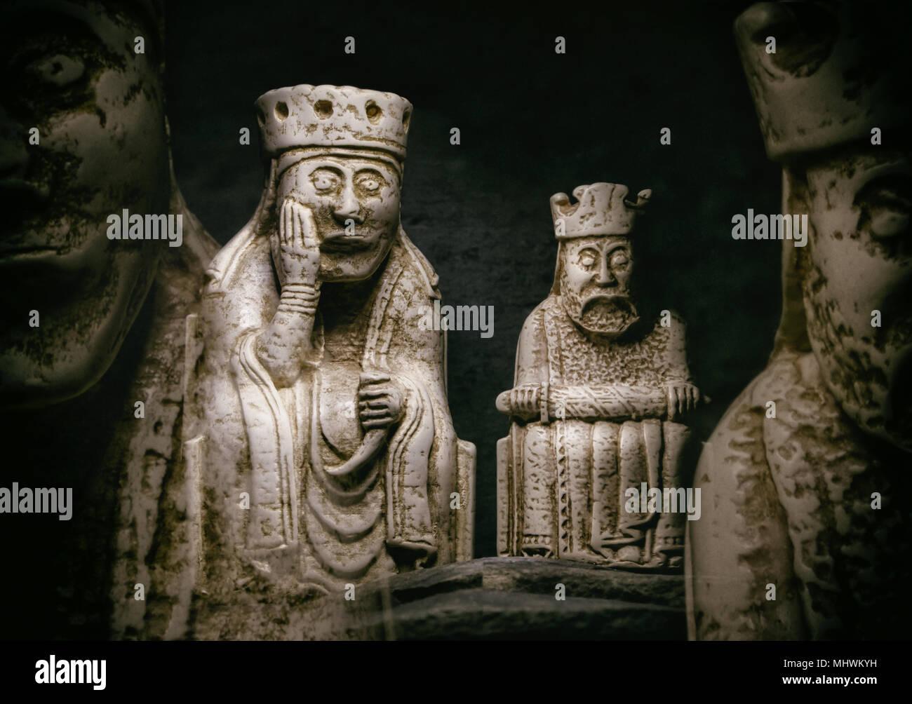 Lewis Chessmen - Stock Image