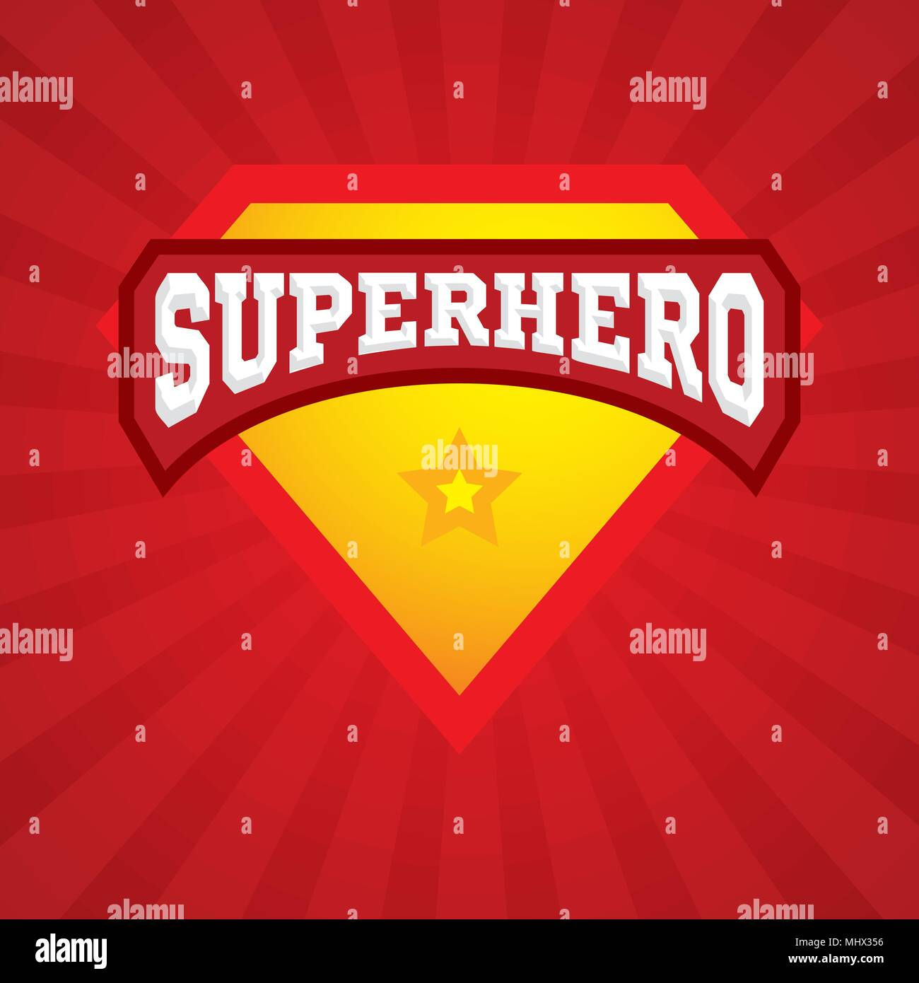 Superhero Logo Template The Icon Of A Superhero And Super Powers