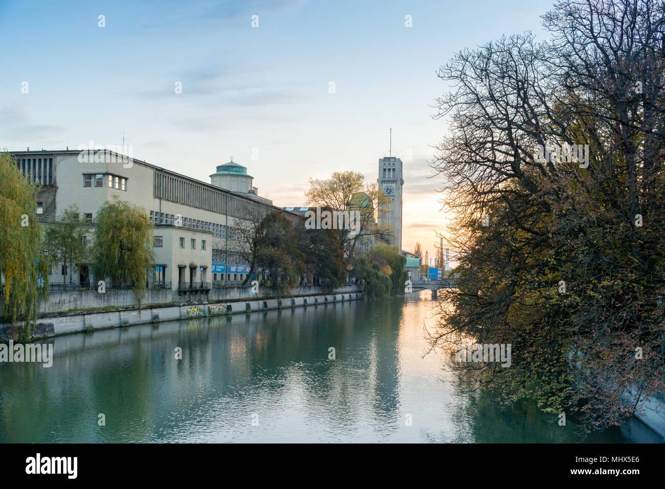 Deutsches Museum, Munich, Bavaria, Germany, Europe, PublicGround - Stock Image