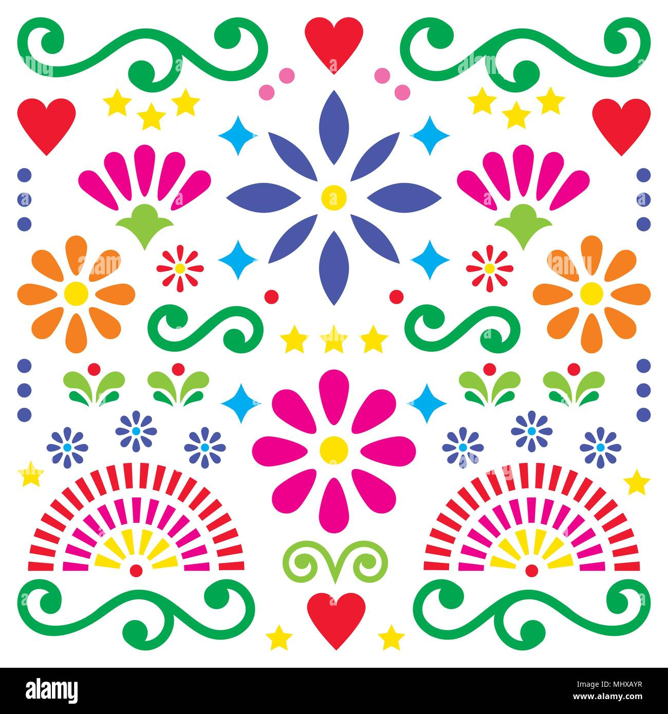 Mexican Embroidery Patterns Simple Design