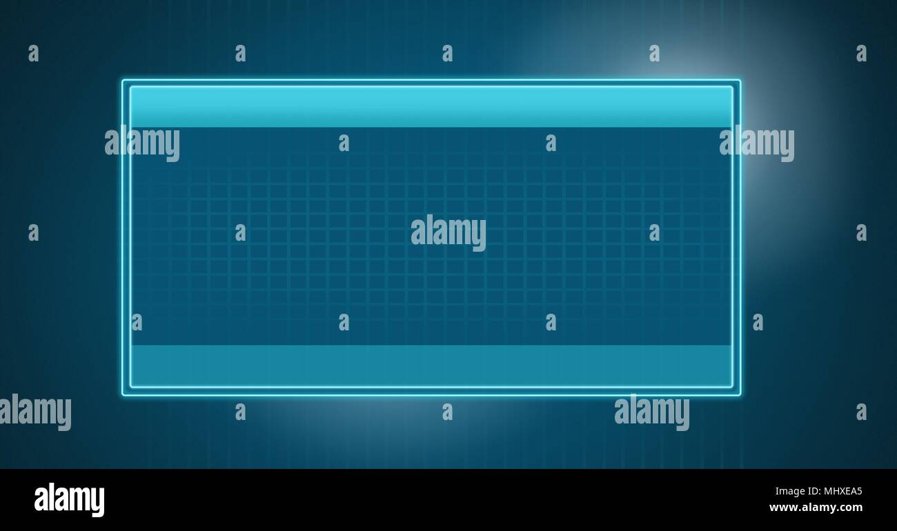 Interface box software blank Stock Photo