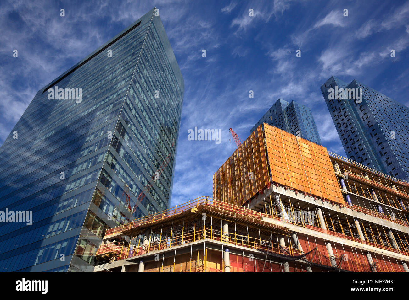 high-rise buildings under construction in Long Island City, New York Stock Photo