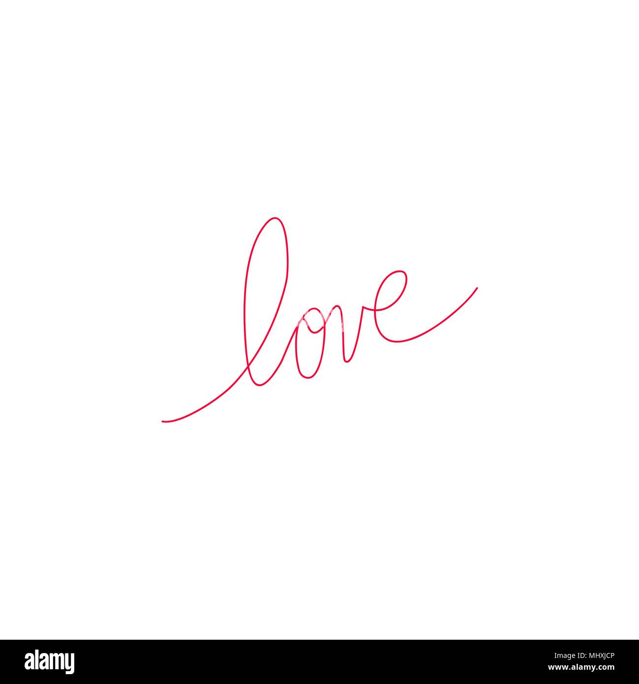 Heart And Love In Continuous Drawing Lines In A Flat Style In