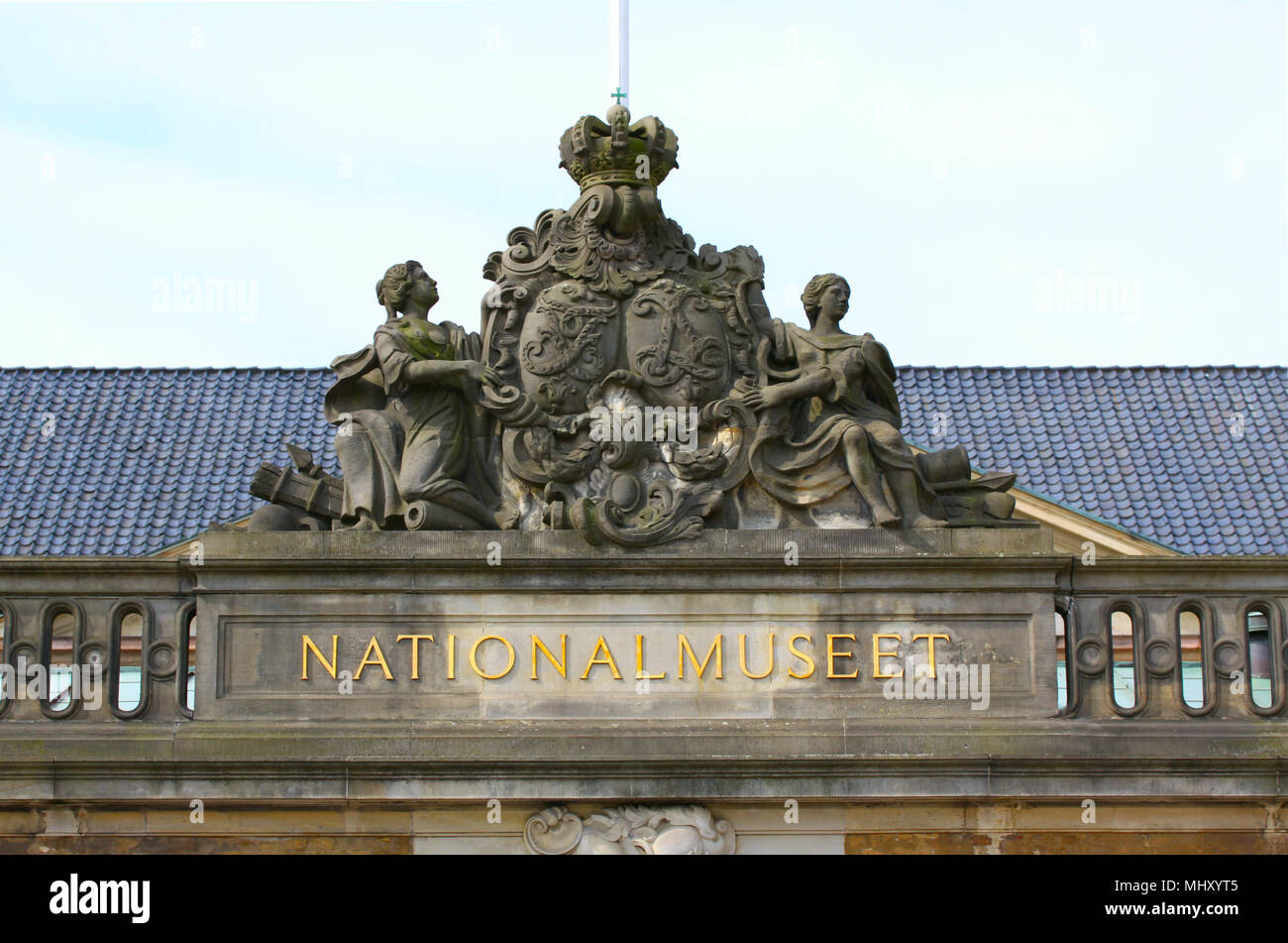 Copenhagen Denmark - May 3, 2018: The National Museum of Denmark in Copenhagen Denmark's most important and largest cultural and historical museum com - Stock Image