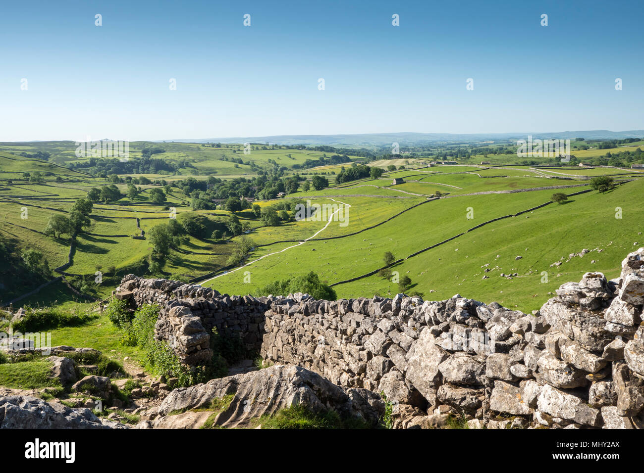 Malham Cove Malham Craven North Yorkshire England - Stock Image