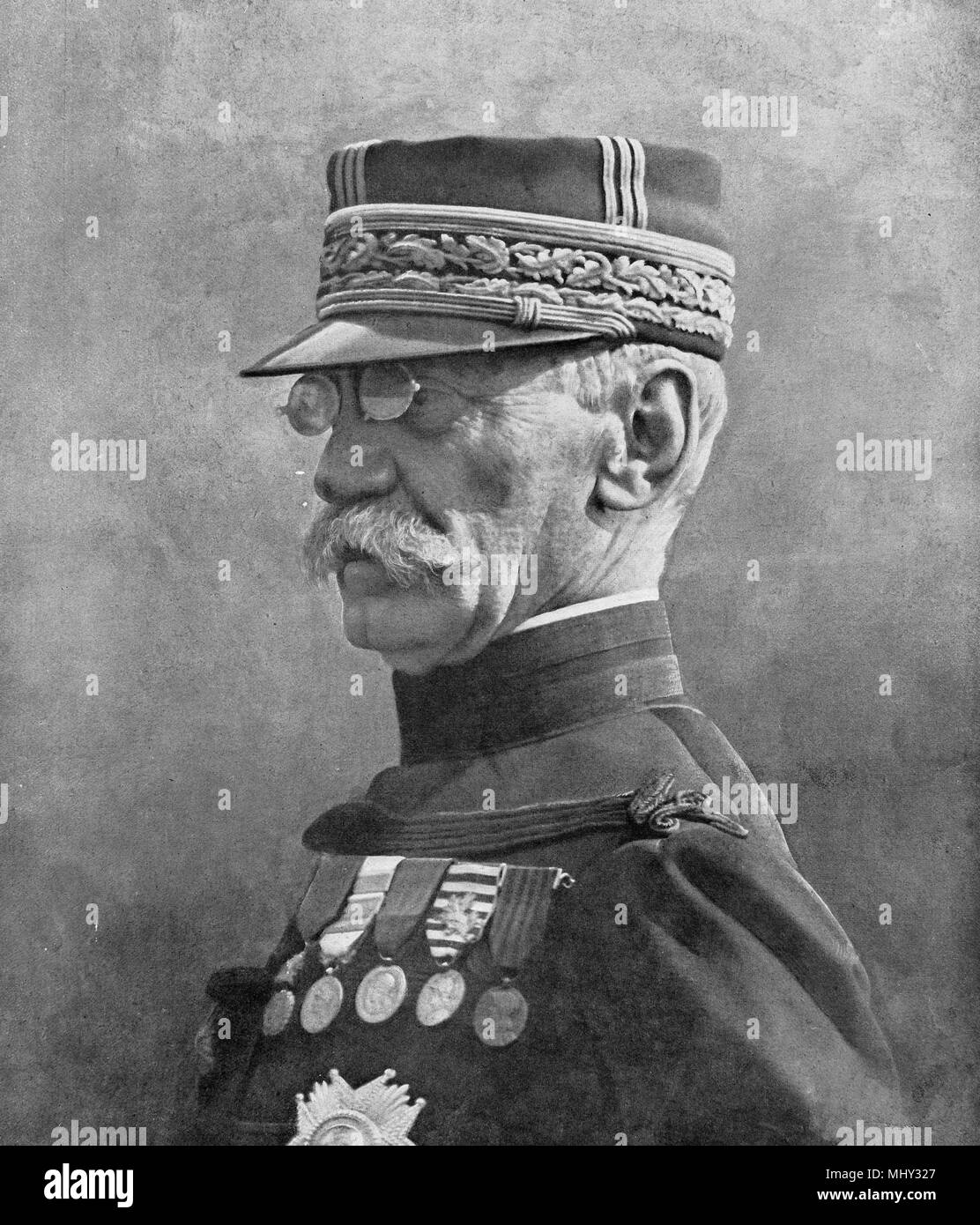 Portrait, General Galieni, Paris governor in September 1914, France - Stock Image