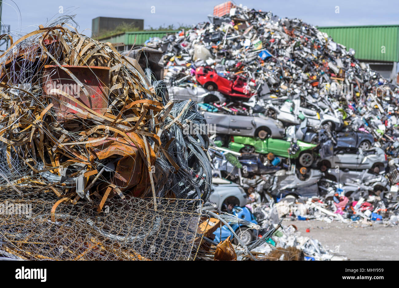Old Cars Crushed Scrap Metal Stock Photos & Old Cars Crushed Scrap ...