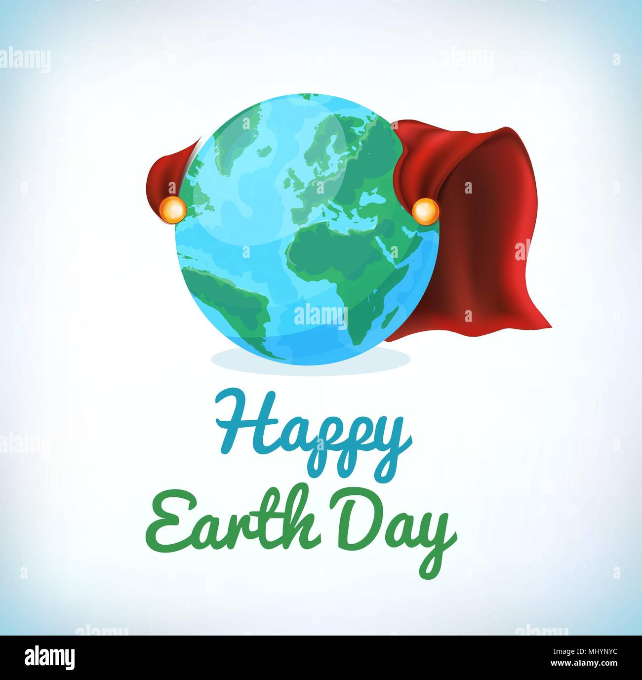 Happy Earth Day card, background. Vector illustration for banner and poster. Element for design cards and invtions. Symbol for gift cards and flyers.  - Stock Image