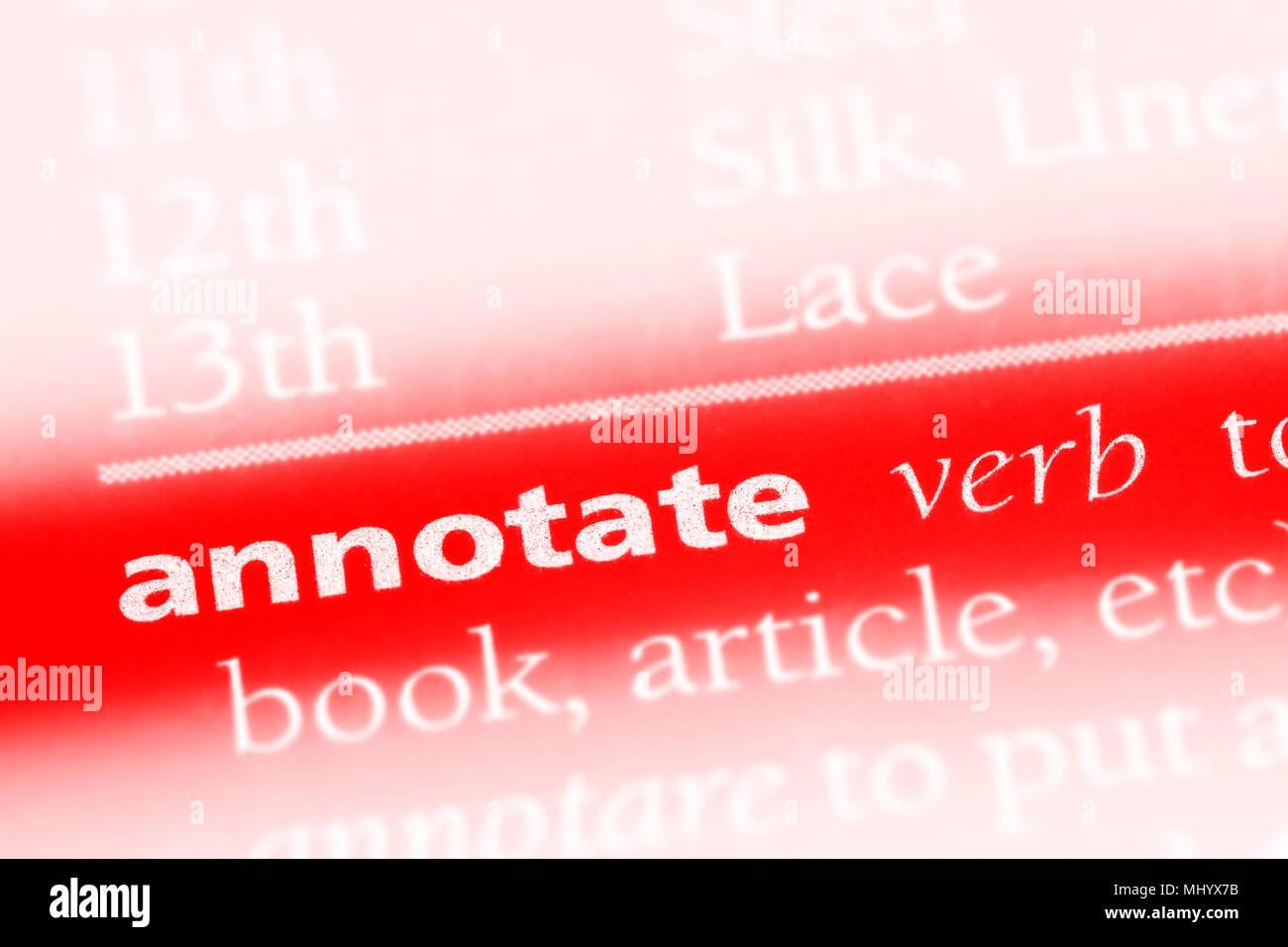Annotate Stock Photos & Annotate Stock Images - Alamy